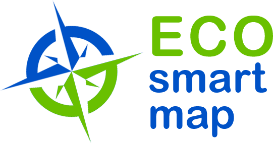 Eco smart map logo